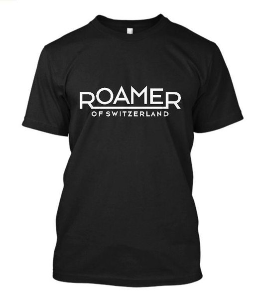 New Roamer Vintage Watch Logo Short Sleeve Men's Black T-Shirt Size S to 5XL