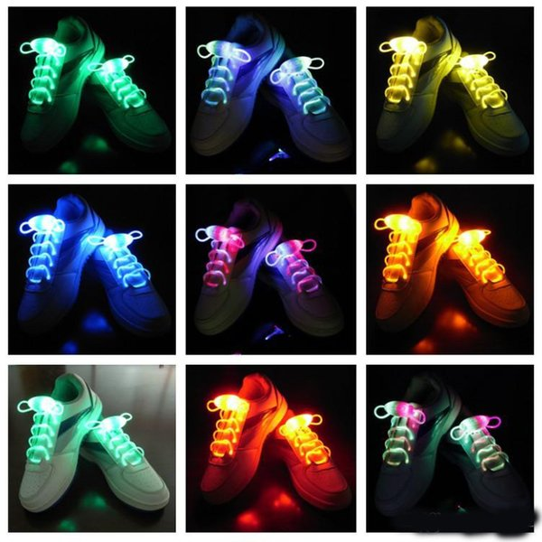 Moda Fluorescent Bootlace Casual Novedad Impermeable Luminoso Shoestring LED Light Up Cool Shoelace Para Concierto Muchos Colores 3 2hl ZZ