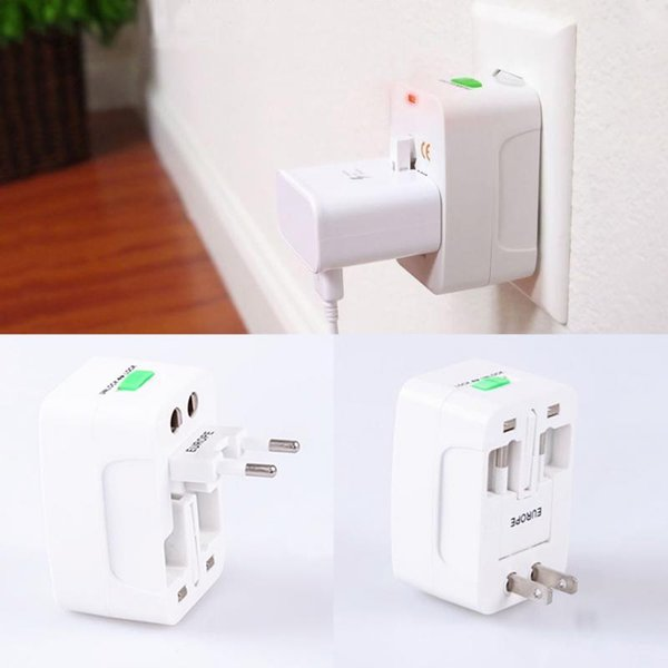 top popular Factory Price All in One Universal International Plug Adapter World Travel AC Power Charger Adaptor with AU US UK EU converter Plug 2020