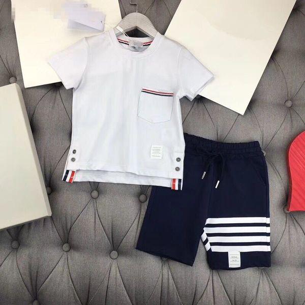 2018 Горячие 100% хлопок мальчиков набор ТБ одежда повседневная мода мальчики костюм