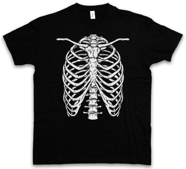 SKELETON I T-SHIRT Bones Knochen Skelett Halloween Karneval Fastnacht Fasching Summer The New Fashion For Short Sleeve