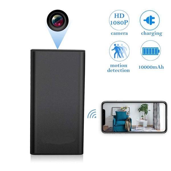 WiFi Full HD 1920 * 1080P 10000mAh Portatile Wireless Power Bank con visione notturna e Smart LED Digital Display Cam PQ516