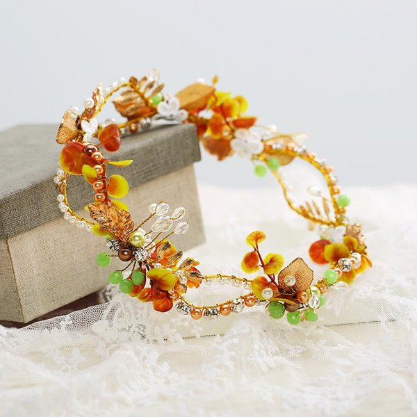Bride accessories beautiful crown headwear pure work to make pearl original ornaments