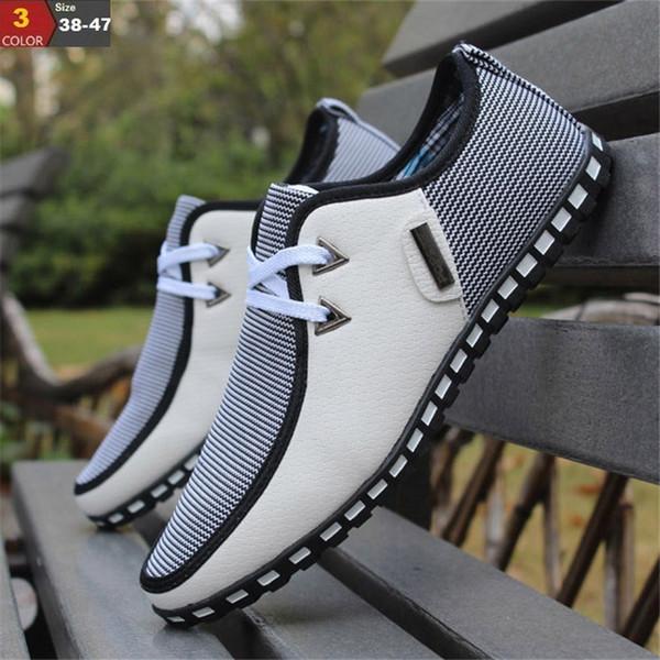 Moda Sapatos de Condução Homens Flats Deslizamento Em Mocassins italiano Sapatos Baixos Homens Sapatos Casuais Zapatillas Hombre TAMANHO 38-47