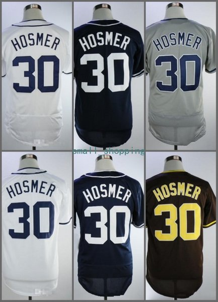 Cheap Eric Hosmer Jersey 2018 Men's San Diego 30 Eric Hosmer Jersey White Grey Brown Dark blue New Baseball jersey