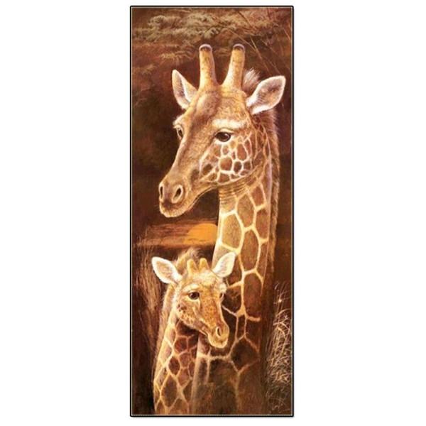 Fai DA TE 5D KIT PITTURA Diamanti cristallo TRAPANO due le giraffe con strass.
