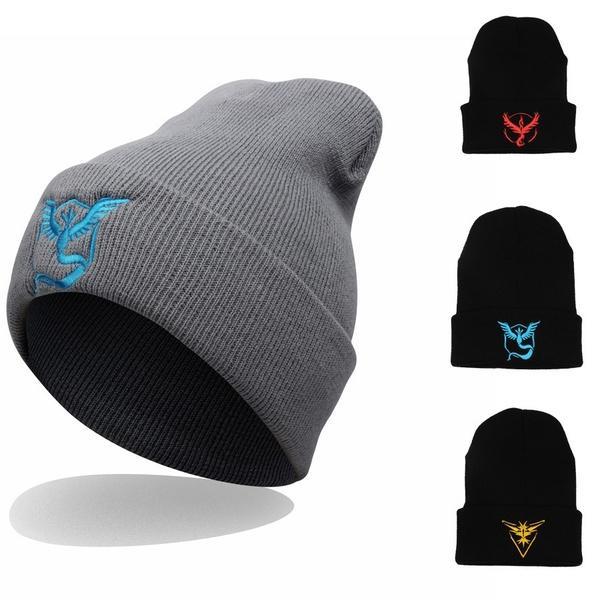 2018 Pokrmon Go Unisex Hat Men Women Hip-Hop Ski Beanie Cap Wool Knitted Winter Warm Hat
