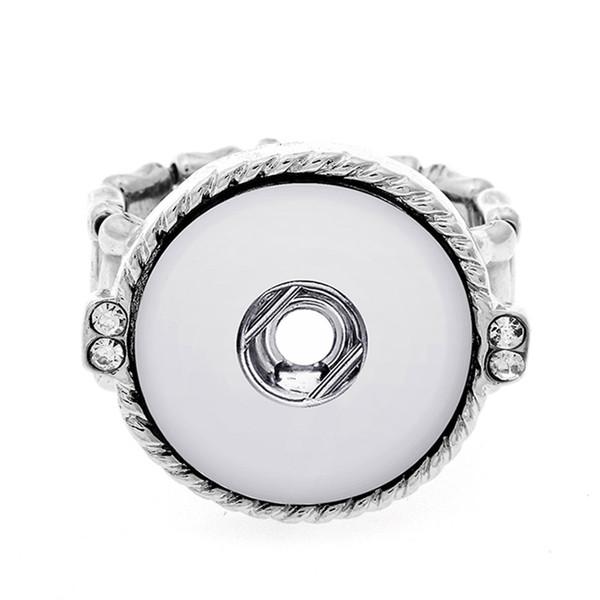 Шарм упругие регулируемые защелки кольцо Fit 18 мм металлические кнопки Оснастки DIY мода ювелирные изделия кольцо TZ523