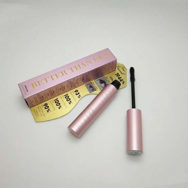 In stock Newest T F BetterThan Sex Mascara Rose gold Better than Love Cool Black Mascara Pink Package DHL free shipping Top qualtity!