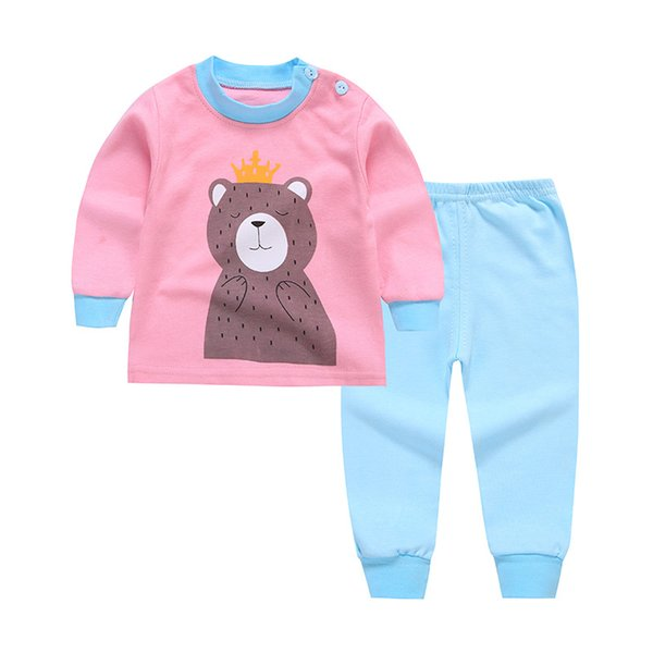 5e35bebd1cc Suitable For Children Aged 3 To 8 With A Bear Pattern On The Clothes And  Sky Blue Trousers Cotton Suit For Spring And Autumn. 20 Christmas Pjs For  ...