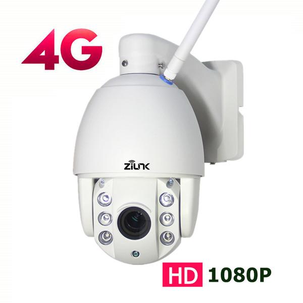 ZILNK 3G 4G SIM Card Outdoor PTZ Dome IP Camera 1080P 2.7-13.5mm Auto Zoom Night Vision 60m CCTV Security Wireless WIFI Camera