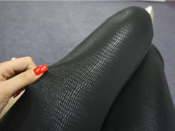 Spring All Match Women Slim Snake Skin Type Leggings Faux Leather Footless Legwear For Girls