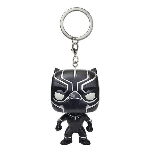 Funko Pocket POP Keychain - Black Panther Vinyl Figure Keyring with Box Toy Gift Good Quality Free Shipping
