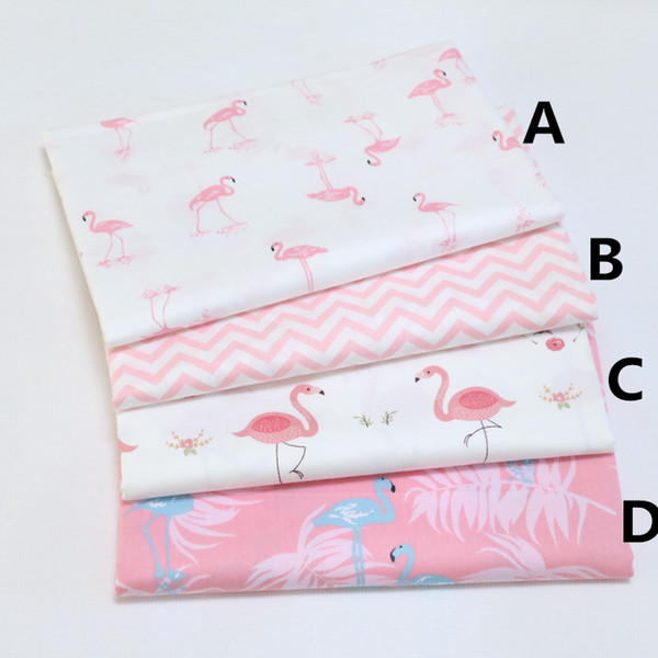 best selling 160cm*50cm Flamingo infant cotton fabric sewing baby cloth quilting kids bedding fabric patchwork tecido quilt sewing tissue