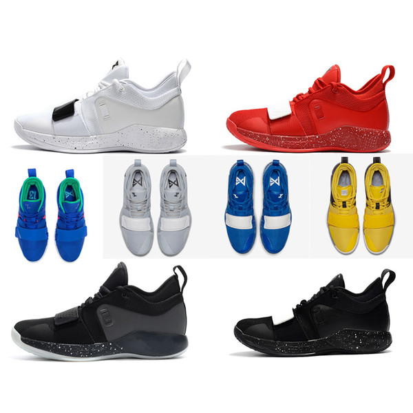 Cheap new 2018 Mens PG 2.5 basketball shoes 2s All Black White Oreo Red Paul George Zoom Air PG2 Elite sneakers with original box for sale