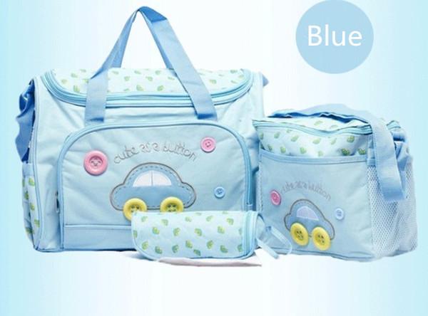 Sconto! 3pcs sacchetti del pannolino del maternidade sacchetto del pannolino del bambino sacchetto di maternità della signora della mummia della borsa del messaggero
