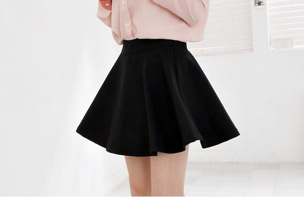 Софи Sweety Лето Американская школа стиль элегантный половина плиссированные мини-юбки высокая талия корейский сплошной цвет женский Лолита плиссированные