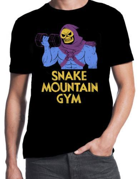 02e1676af47 Skeletor Snake Mountain Gym Masters Of Universe He-Man Funny 80 s Mens T- Shirt