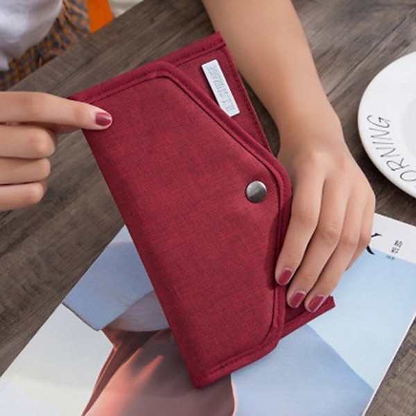 Anti-Theft Travel ID  Holder Women Plane Passport Card Storage Cover Magnetic Cash Wallet Document Package Organizer