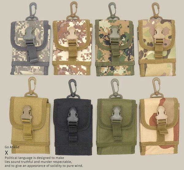 Outdoor Tactical bag Camping Climbing Bag Hanging hiking Hip Waist Belt Wallet Pouch Purse Phone Case for IPhone waist pocket