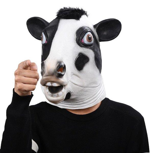 Compre Hanzi Masks Mascara De Latex De Vaca De Halloween Mascara