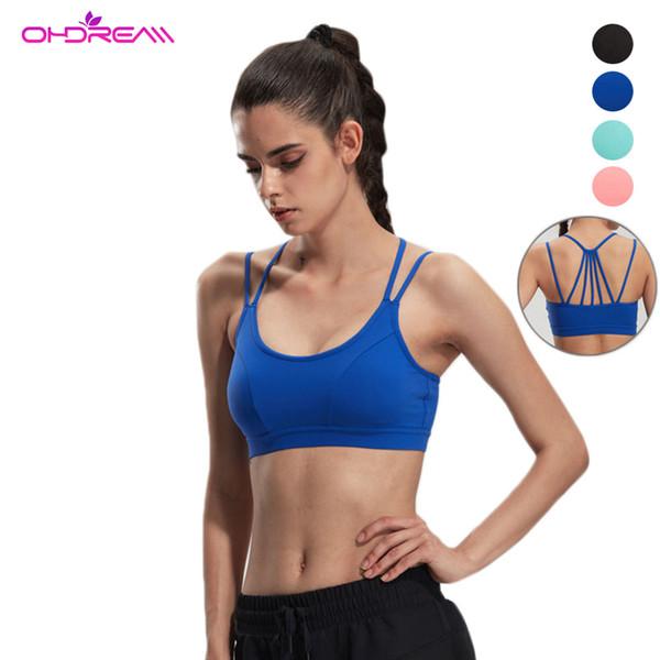 OHDREAM Sports Bra Fitness Women Haut Femme Push Up Sports Wear For Women Gym Active Wear Fitness Yoga Bra -F