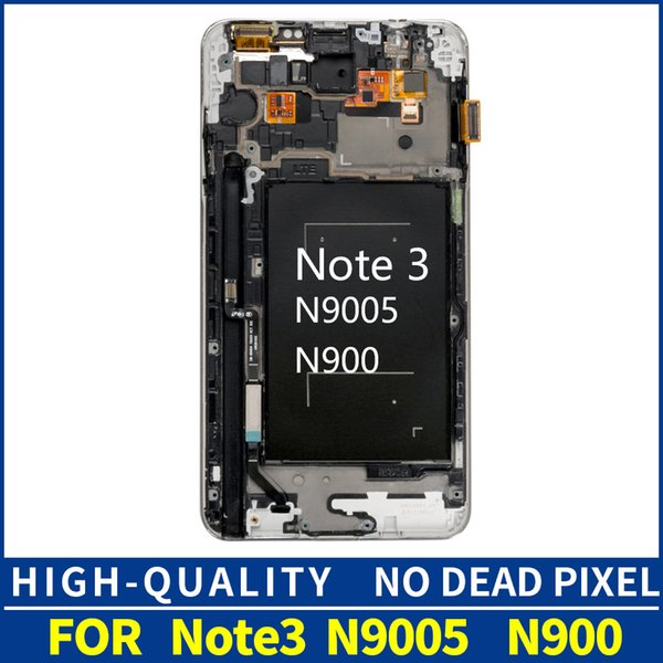 Brightness Adjustment LCDs For Samsung Galaxy Note 3 N9005 Note3 LCD Display Frame Touch Screen Digitizer Assembly Replacement