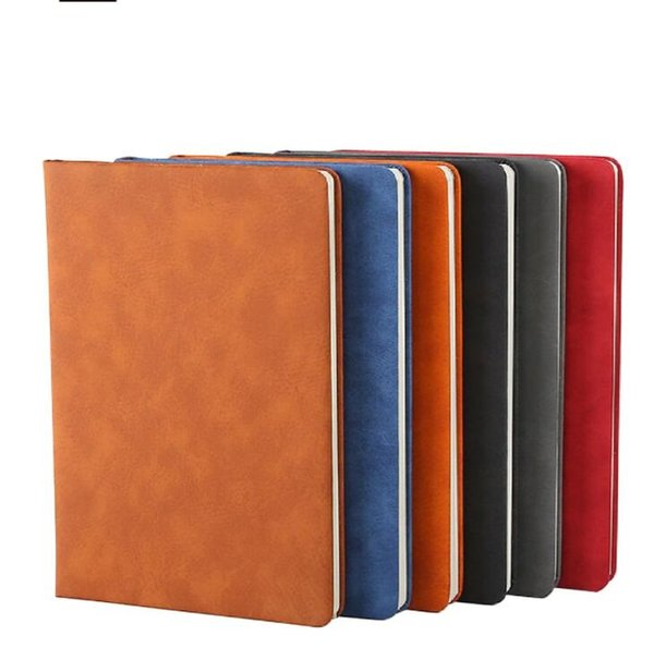 a5 soft Sheepskin notepad notebooks office school supplier Faux Leather notepads Pu thick business paper notepad lined paper stationery