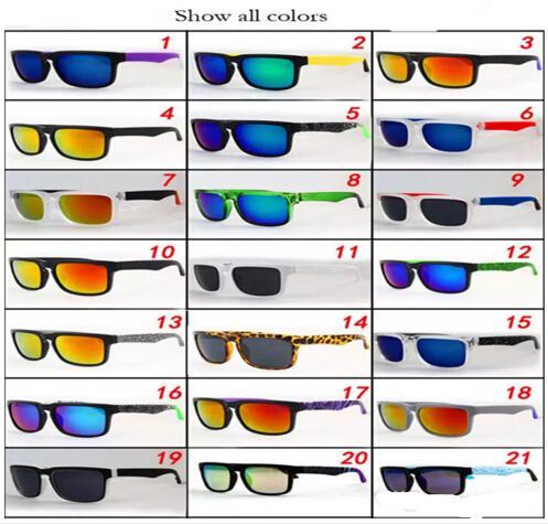 Marka Tasarımcısı Spied Ken Blok Helm Güneş Erkekler Kadınlar Unisex Açık Spor Sunglass Tam Kare Gözlük 21 Renk