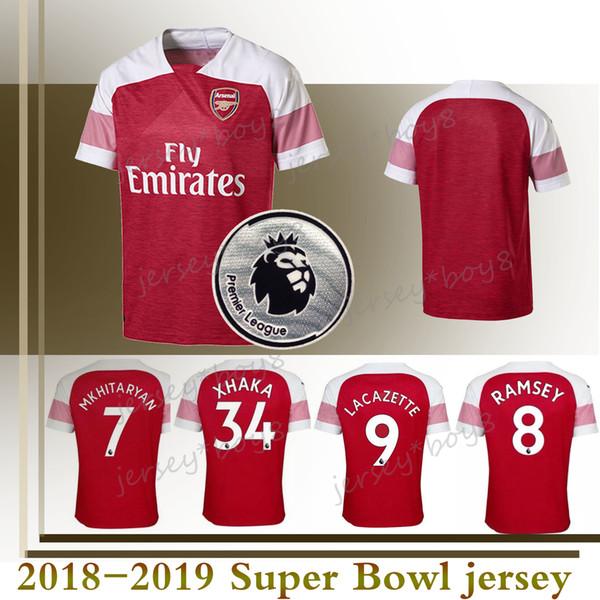pretty nice 5e328 98935 2018 18 19 Arsenal Jersey Bellerin Jersey M.Elneny Sokratis Koscielny  Mkhitaryan Ramsey Lacazette Özil Torreira Lichtsteiner Aubameyang Holding  From ...