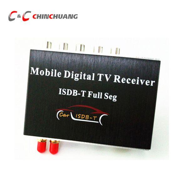 Nuovo! 140-190 km / h Sintonizzatore TV digitale per auto HD 1080P FULL SEG ISDB-T Box ricevitore doppio Antenna per il Brasile Cile Argentina Perù