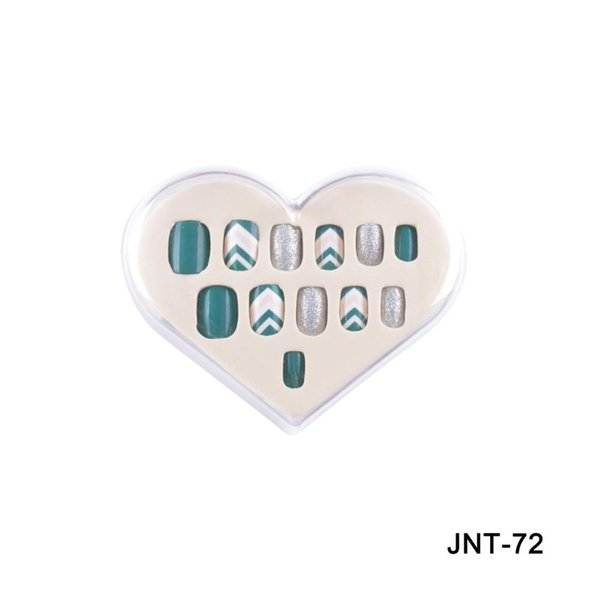 fake nails rhinestone Nail Art False round DIY finished with free stickers
