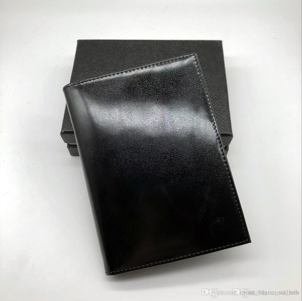 Nuevo Bestseller Business de los hombres Black Passport Wallet Titular de la tarjeta de crédito Cover Cover MB Leather MT Travel Wallet Passport Book