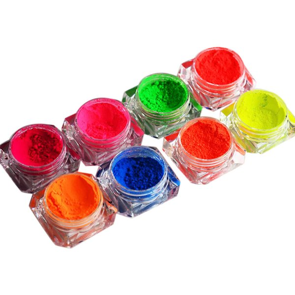 Drop Ship New Fashion Bright Polish Nail Luminou Powder Bright Powder Shine Pigment Fluorescent Nail Art F804