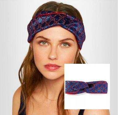 Hot Sale Sport headband Elastic Headband for Women Men Best Brand Greed and Red Striped Hair bands Head Scarf For Women Girl Gifts