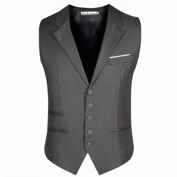 Na moda dos homens de negócios dress colete terno slim fit smoking colete masculino colete jaquetas plus size 5xl 6xl