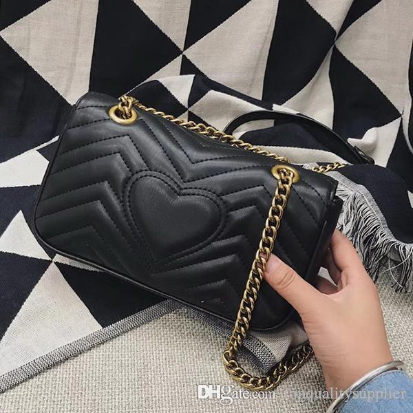 nuovo marchio classico marmont vacchetta borsa messenger bag in vera pelle tracolla catena di alta qualità spedizione gratuita