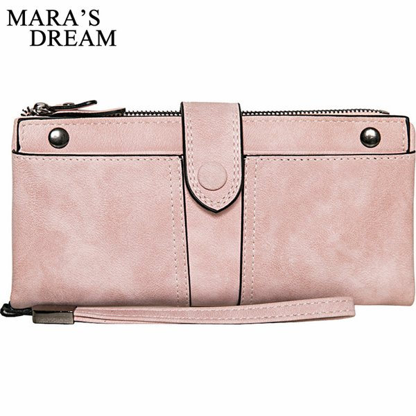 Mara's Dream Brand Wallet Women Scrub PU Leather Lady Purses High Quality Ladies Clutch Wallet Long Female Wallet Carteira Bags