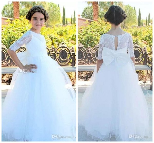 First Communion Dresses 2018 Cheap Plus Size Kids Prom Dresses Flower Girl  Dress Flower Girl Dresses For Flower Girl From Dybaby, $126.64| DHgate.Com