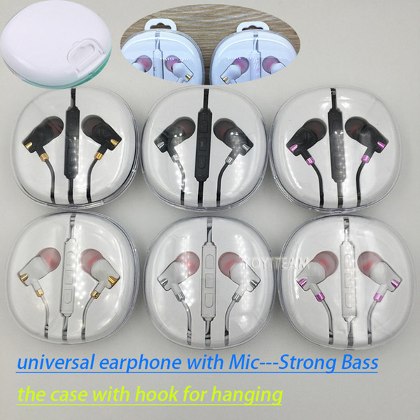 strong bass cell phone earphone with microphone and volume control for smartphone mp3 mp4 good sound headphones