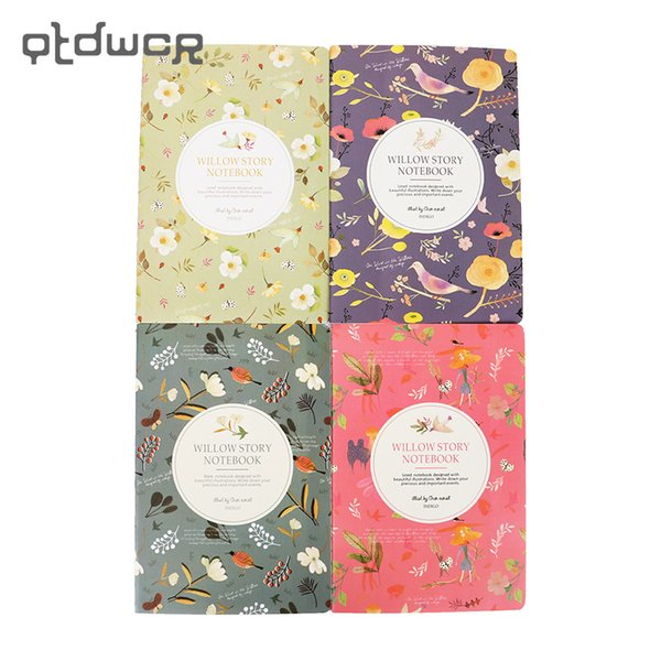 1PC New Arrivals Kawaii Cute Flowers Birds Animal Notebook Painting of Diary Book Journal Record Office School Supplies