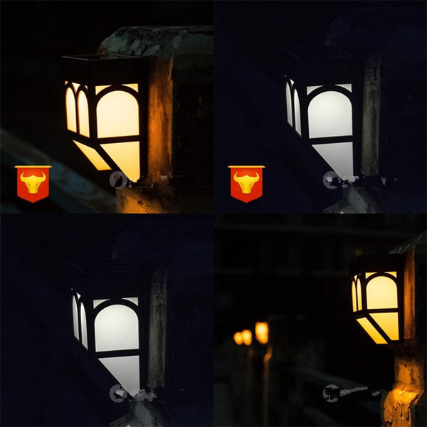Garden Lamps Solar Energy Household Outdoors Waterproof Fence Decorations Villa Wall Street Colorful Yard High Quality 16gy V