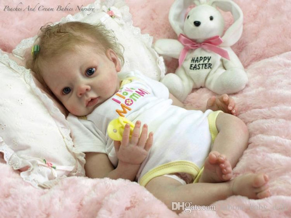 20-22inch Very soft silicone vinyl reborn doll kit lifelike real touch unpainted, head , arms and legs