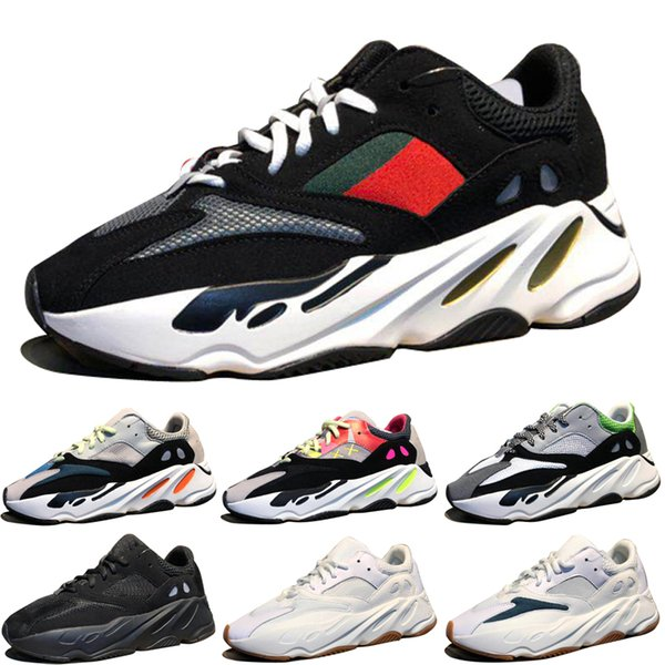 Cheap Kanye West Wave Runner 700 Boots Grey Running Shoes for men 700s womens mens Sports Sneakers trainers outdoor designer Causal shoes