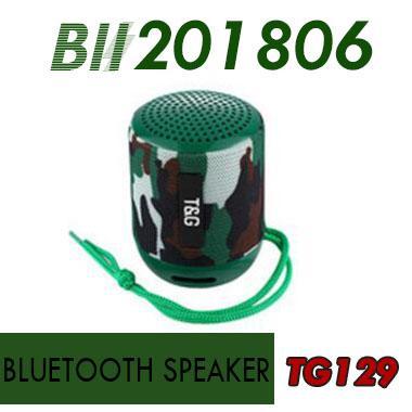 Mini Bluetooth Speaker TG129 Wireless Portable Subwoofer MP3 Player FM Radio Audio TF Card USB Cloth Creative Outdoor Portable Speakers 60X