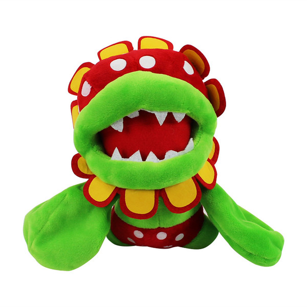 Super Mario Bros Sluggers Petey Piranha Flower Plush Toy 20cm Soft Stuffed Animal Dolls Kids Toys