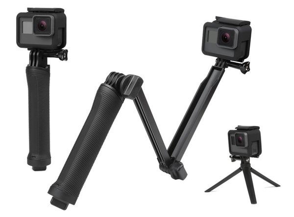 Wasserdicht 3 way grip einbeinstativ für gopro hero 5 6 4 sitzung sj4000 xiaomi yi 4 k kamera go pro selfie stick mit stativ