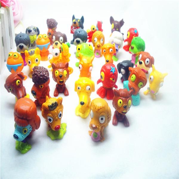 30 unids / lote figuras de perro de acción de dibujos animados de pvc suave modelos de juguetes para niños al azar para niños presentes
