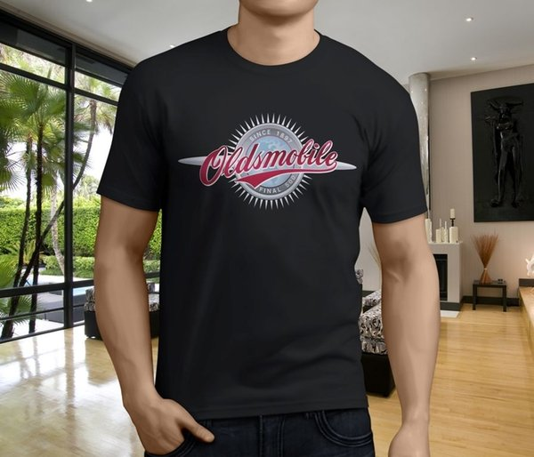 Hot New Oldsmobile Classic Car Emblem Men's Black T-Shirt Size S-3XL Funny free shipping Unisex Casual gift t shirt