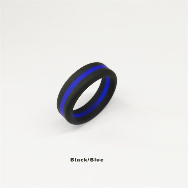 black with blue